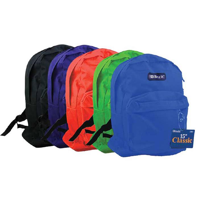BAZIC 15 School Backpack