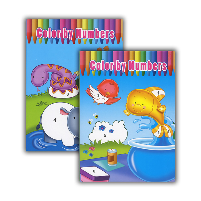 COLOR BY NUMBERS Coloring & Activity Books