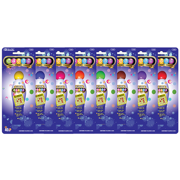 BAZIC Assorted Color 45 ml Bingo Marker