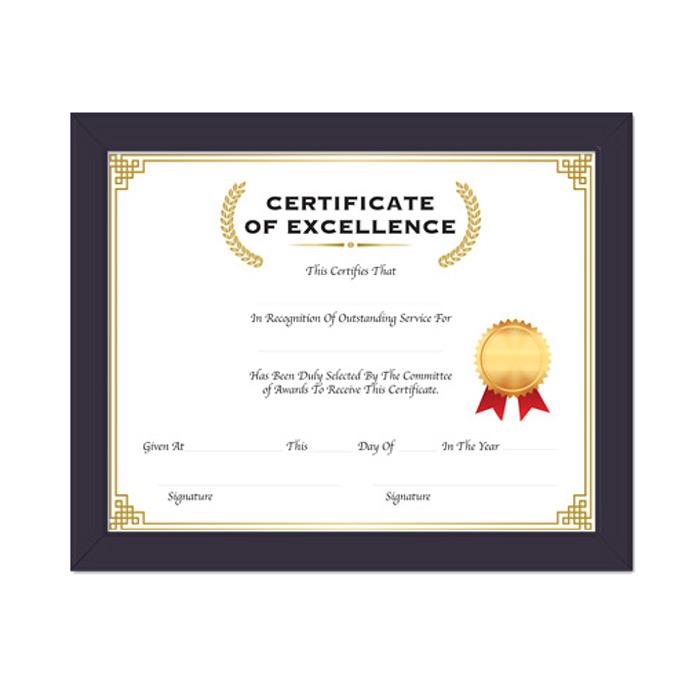 BAZIC 11 X 14 Multipurpose Certificate Frame w/ Glass Cover