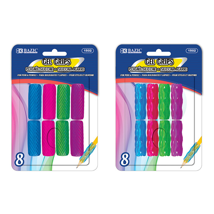 BAZIC Wiggly Shape Foam Pencil / Pen Grip (8/Pack)