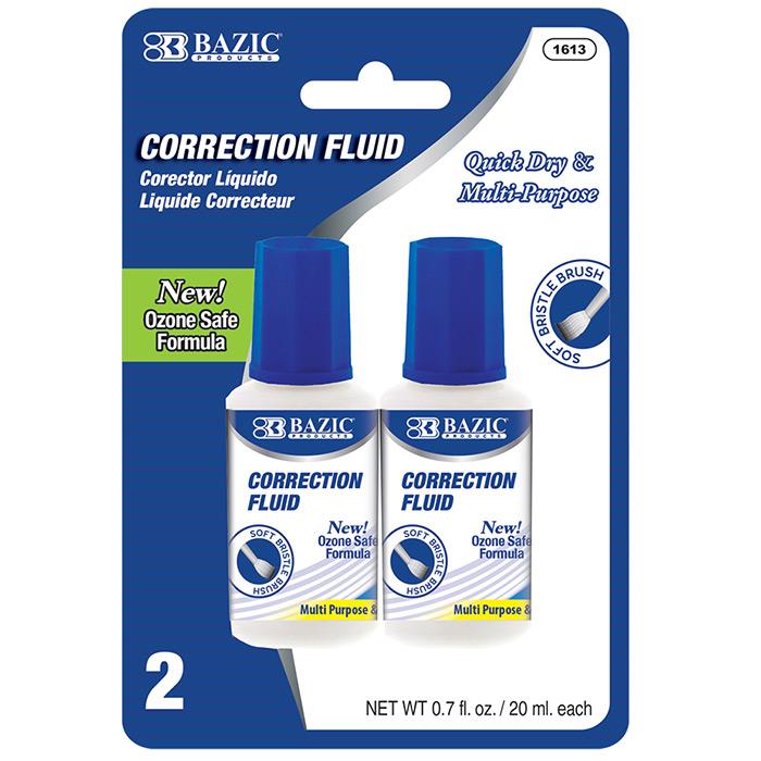 BAZIC 20ml / 0.7 fl. oz. Correction Fluid (2/Pack)