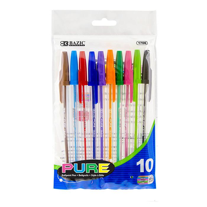 BAZIC 10 Pure Neon Color Stick Pen