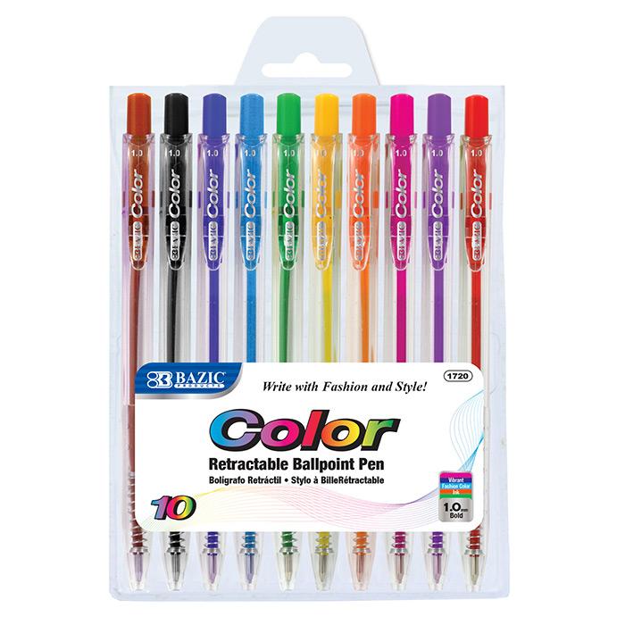 BAZIC 10 Retractable Color Pen