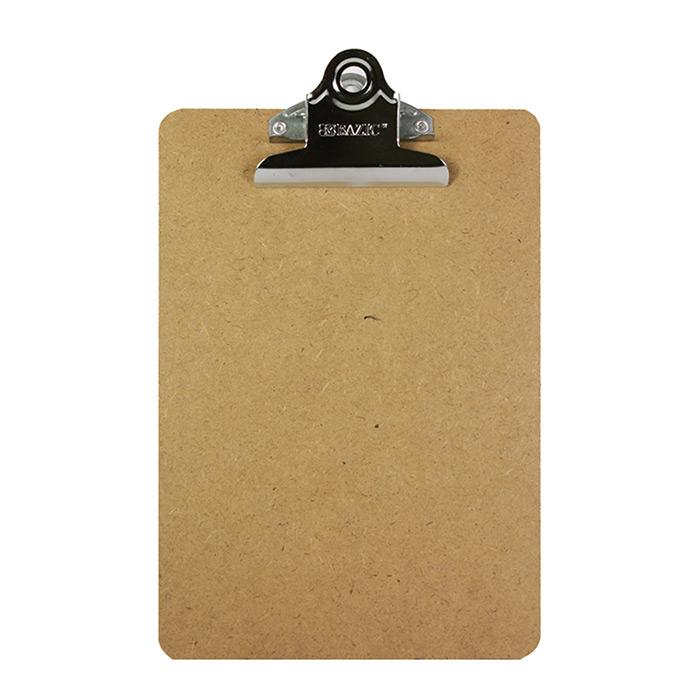 BAZIC Memo Size Hardboard Clipboard w/ Sturdy Spring Clip
