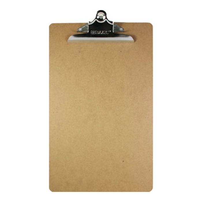 BAZIC Legal Size Hardboard Clipboard w/ Sturdy Spring Clip