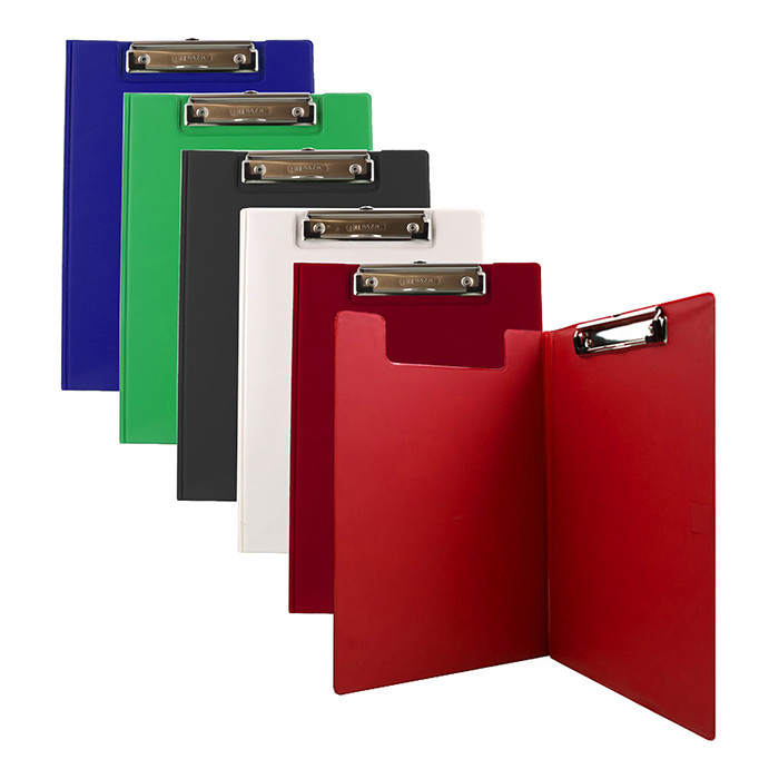 BAZIC A4 Size PVC Clip Folder w/ Low Profile Clip