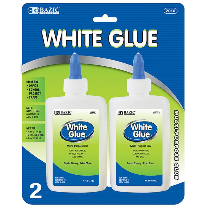 BAZIC 4 Oz. (118mL) White Glue (2/pack)