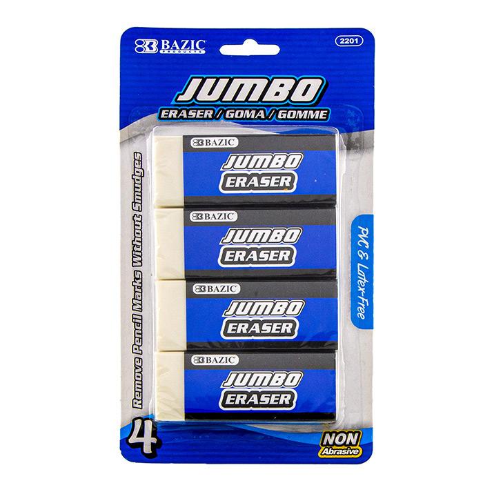 BAZIC Jumbo Vinyl Eraser (5/Pack)