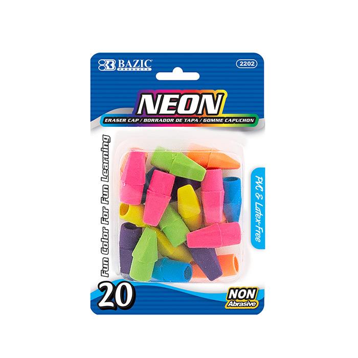 BAZIC Neon Eraser Sets (18/Pack)