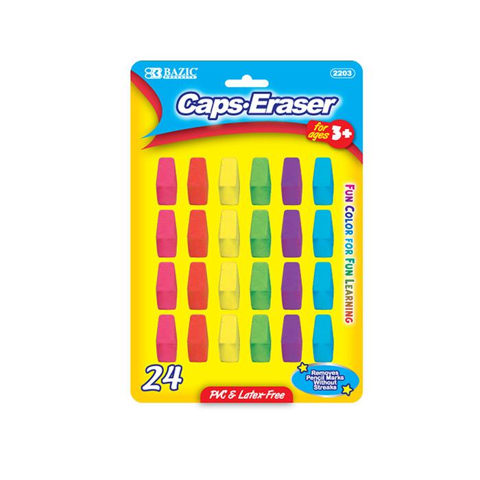 BAZIC Neon Eraser Top (24/Pack)