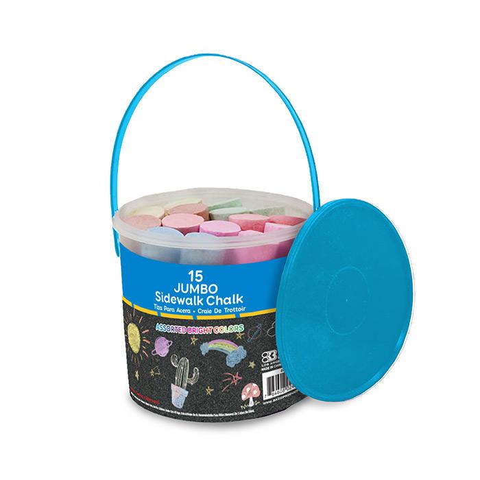 BAZIC Jumbo Color Chalks (20/Bucket)