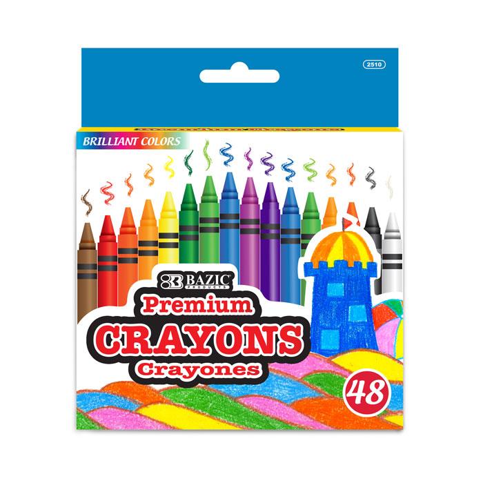 BAZIC 48 Ct. Premium Quality Color Crayon