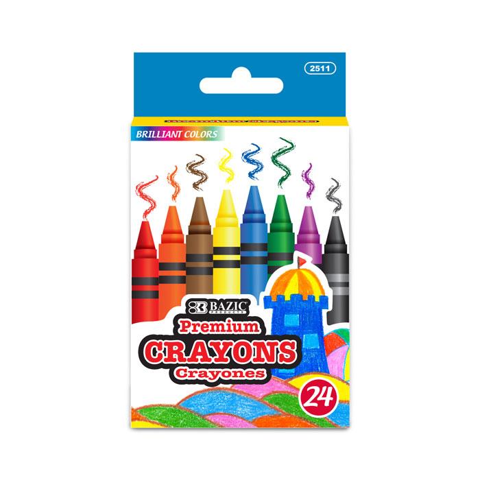 BAZIC 24 Color Premium Quality Crayon