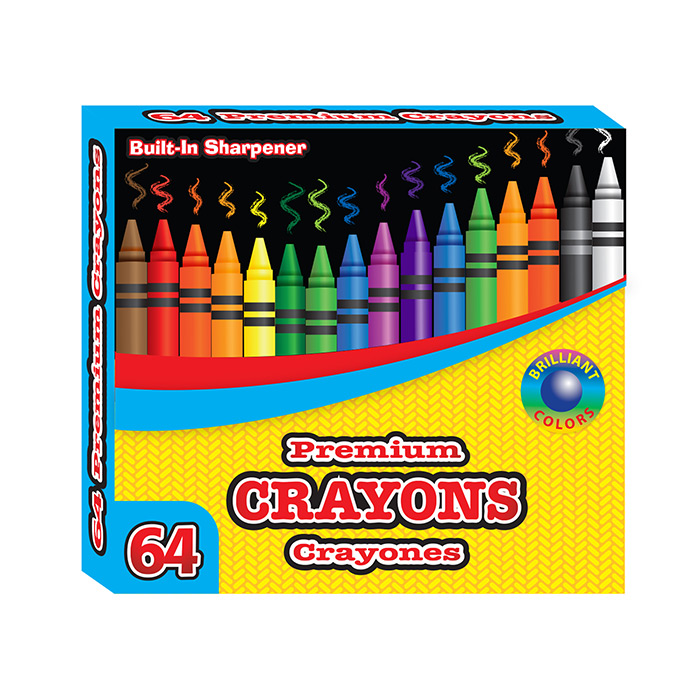 BAZIC 64 Ct. Premium Quality Color Crayon