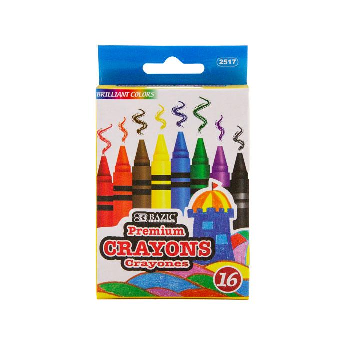 BAZIC 12 Glitter Color Premium Quality Jumbo Crayon