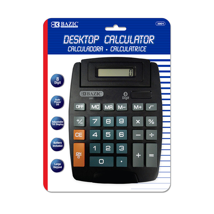 BAZIC 8-Digit Large Desktop Calculator