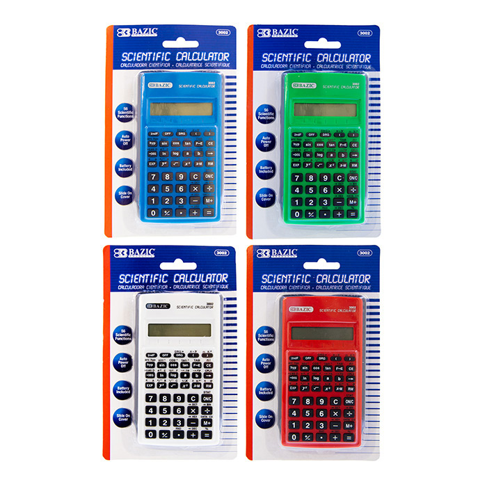BAZIC 8-Digit Curve Shape Calculator w/ Adjustable Display