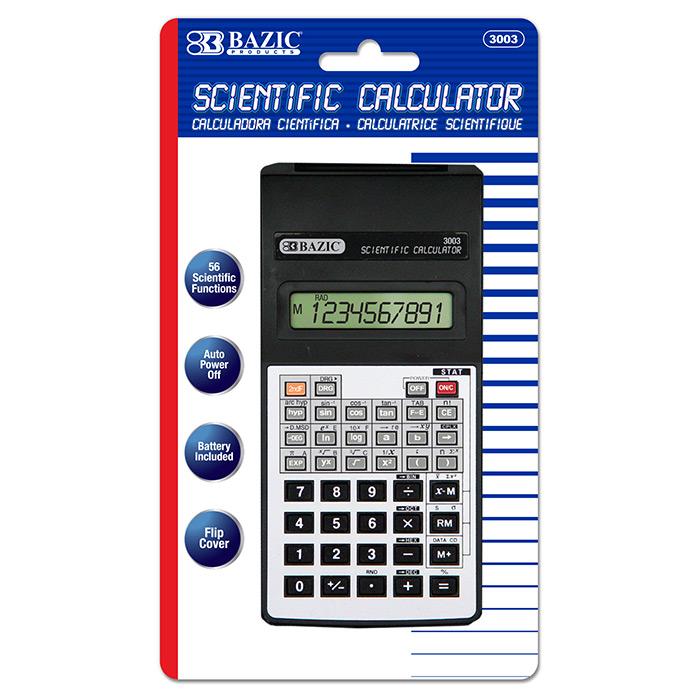BAZIC 10-Digit Scientific Calculator w/ Flip Cover