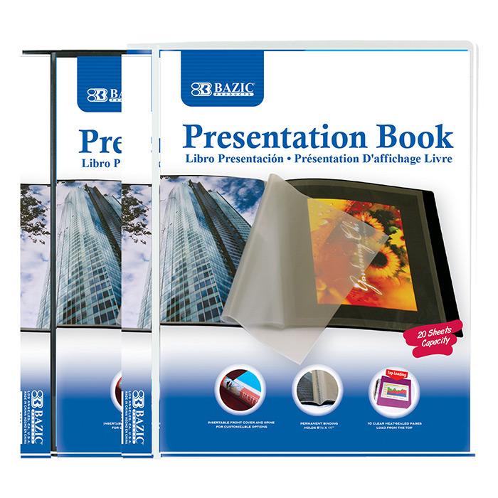 BAZIC 10-Pockets Presentation Book