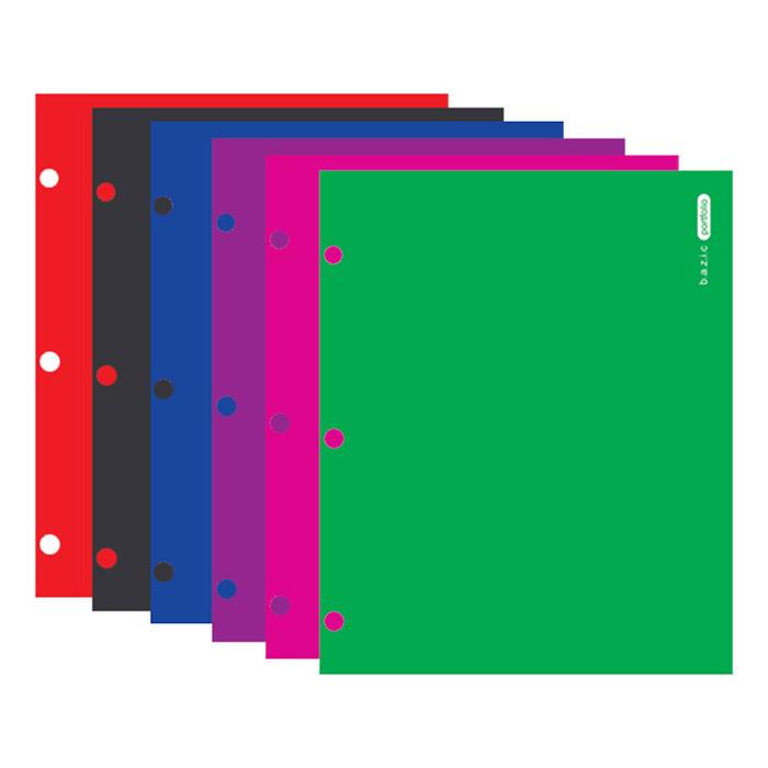 BAZIC Laminated Bright Glossy Color 2-Pockets Portfolios