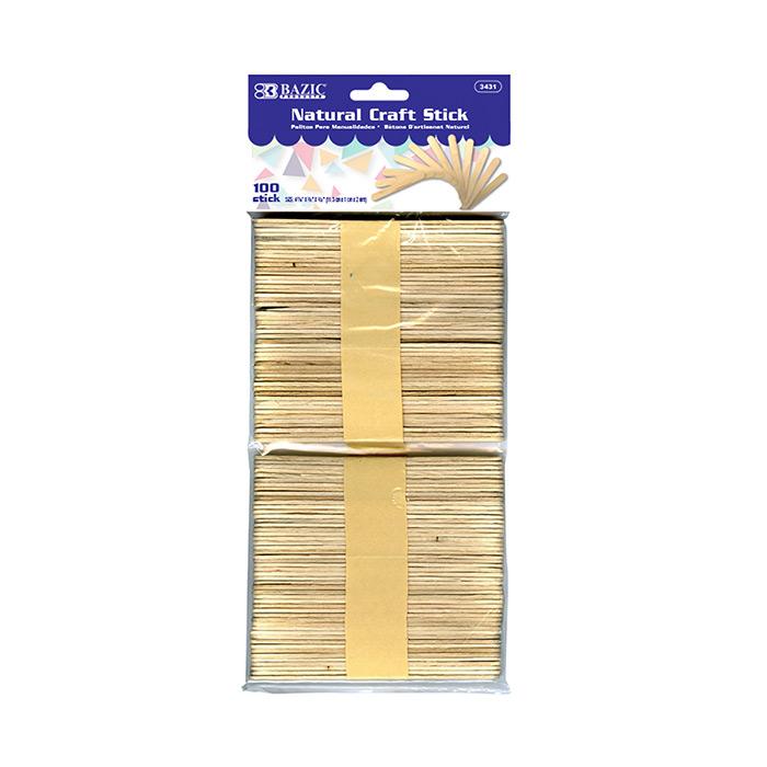 BAZIC Natural Craft Sticks (200/Pack)