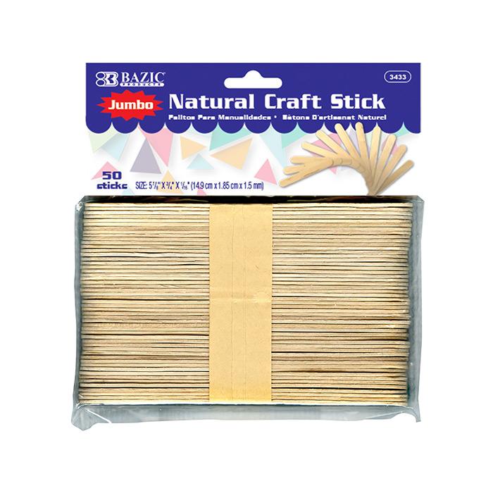 BAZIC Jumbo Natural Craft Stick (100/Pack)
