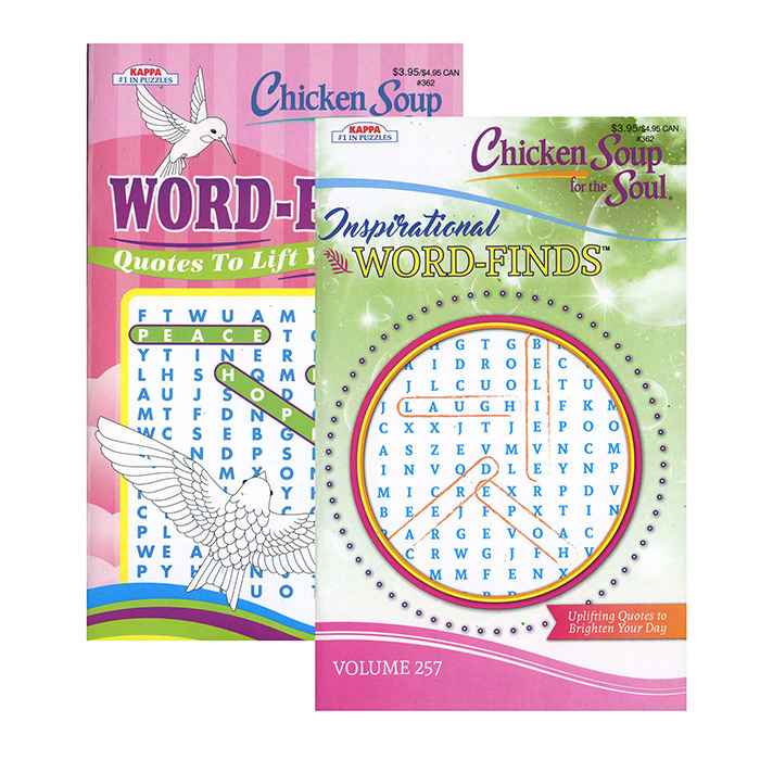 KAPPA Chicken Soup For The Soul Word Finds Puzzle Book