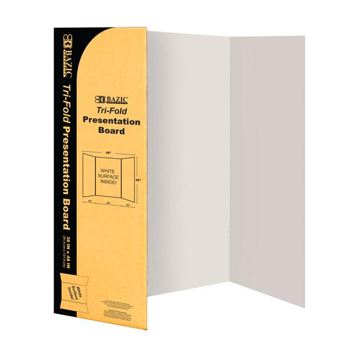 BAZIC 36 X 48 White Tri-Fold Corrugated Presentation Board