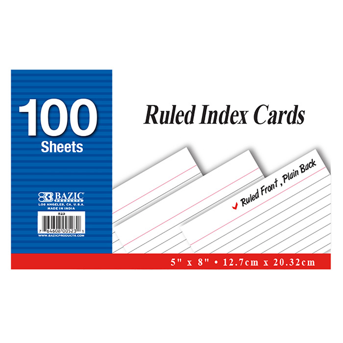 BAZIC 100 Ct. 4 X 6  Colored Note Pad