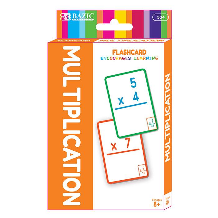 BAZIC Multiplication Flash Cards (36/Pack)