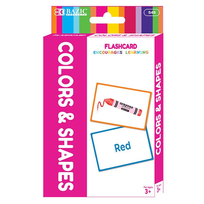 BAZIC Colors Preschool Flash Cards (36/Pack)