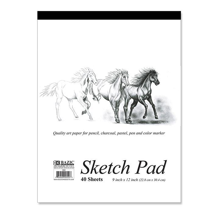 BAZIC 40 Ct. 9 X 12 Premium Sketch Pad