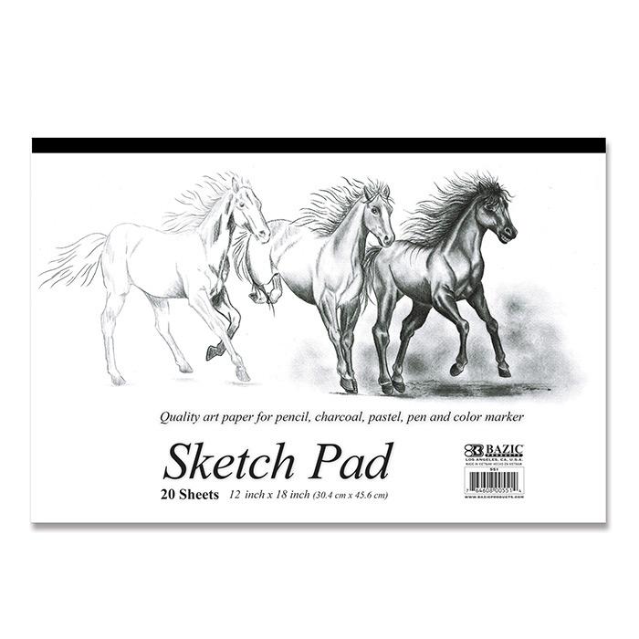 BAZIC 20 Ct. 18 X 12 Premium Sketch Pad