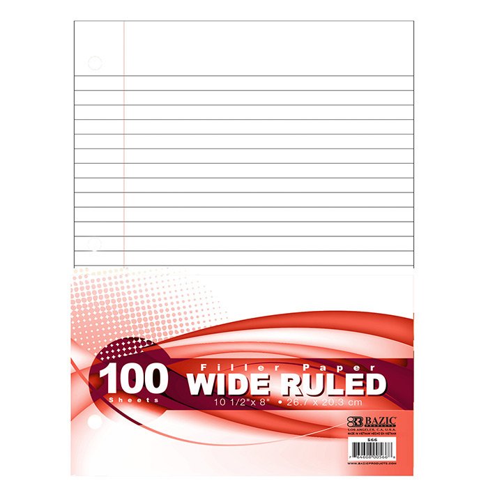 BAZIC W/R 100 Ct. Filler Paper