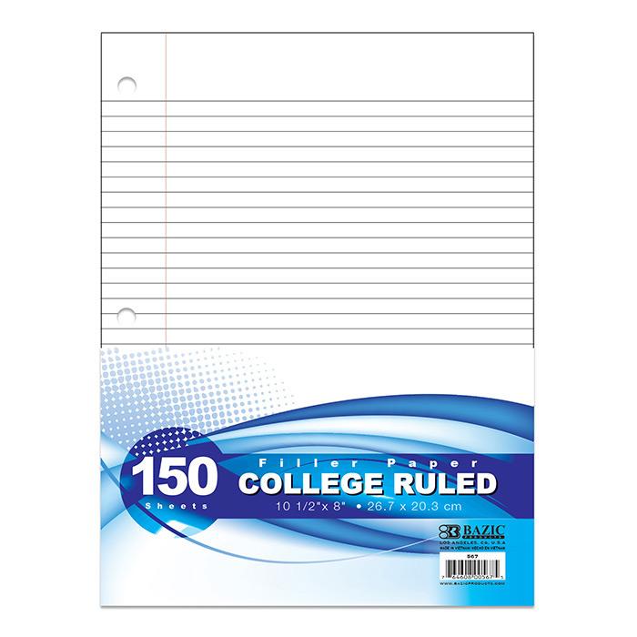 BAZIC C/R 150 Ct. Filler Paper
