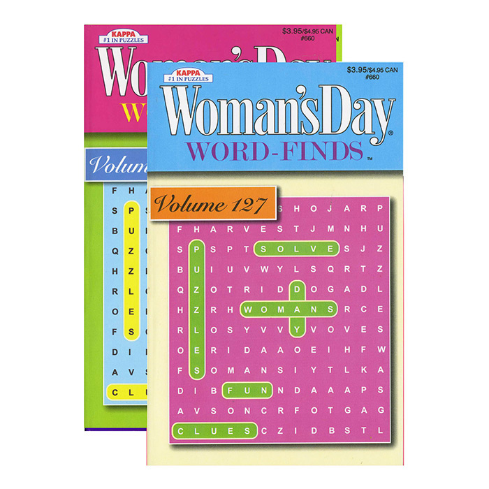 KAPPA Woman's Day Word Finds Puzzle Book