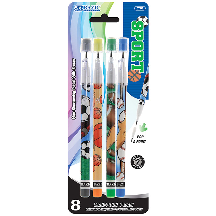 BAZIC Sports Multi-Point Pencil (10/Pack)